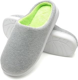 FLY HAWK Pantofole Invernali Uomo in Cotone Peluche da Casa - Ciabatte Inverno in Feltro Ultra-Morbido e Caldo per Casa, C...