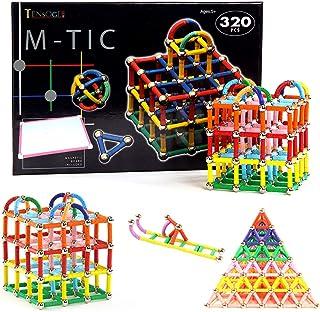 320Pcs Magnetic Sticks Building Blocks Toys, Magnet Construction Build Kit Education Toys 3D Puzzle for Kids and Adult, Ma...