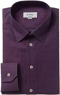 Mens Contemporary Fit Dress Shirt, 42, Purple