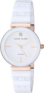 Anne Klein Women's Genuine Diamond Dial Ceramic Bracelet Watch