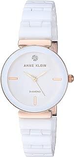 Women's Genuine Diamond Dial Ceramic Bracelet Watch