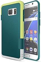 HanLuckyStars Galaxy Case S7, 3 color híbrido de doble capa de la caja a prueba de golpes Samsung Galaxy S7 Green