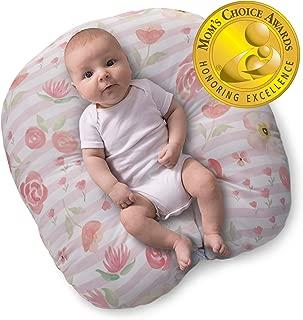 boppy newborn lounger in pink hearts