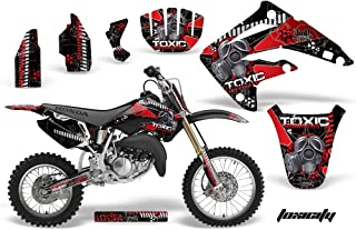 AMR Racing MX Dirt Bike Graphic Kit Sticker Decals Compatible with Honda CR85 2003-2007 - Toxicity Red