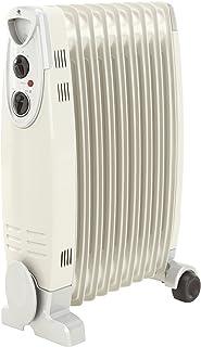 Alpatec BH2-20 - Radiador de aceite, 2000 W, 56 x 64,5 x 16 cm, color blanco y plateado