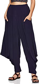 Women's crepe salwar Bottom (SLDVCR-200N20157504_ NAVY BLUE_ 38)