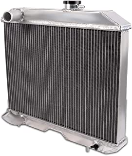 Full Aluminum Racing Radiator For JEEP WILLYS MB FORD GPW 41 42 1941-1952 Silver