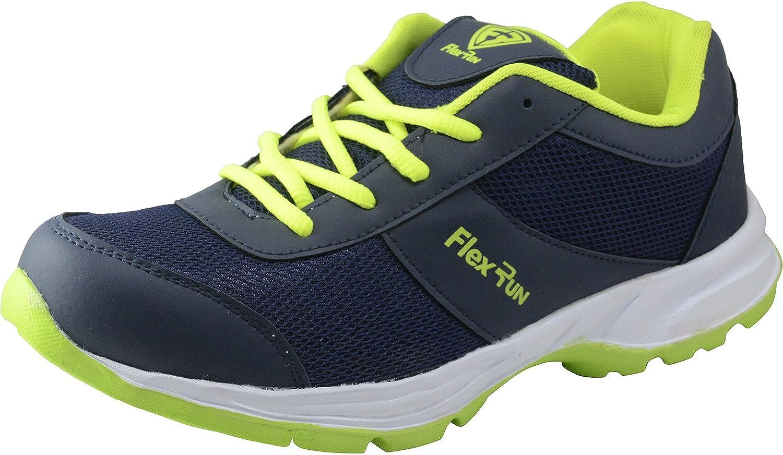 Flex Run Men Navy Neon Grün Sports schuhe FLR 006