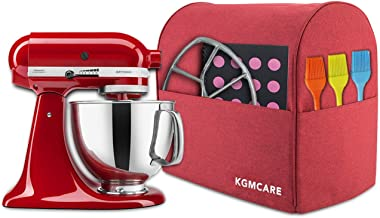 KGMcare Stand Mixer Cover, Dust Cover Compatible with Quart KitchenAid Stand Mixer, Kitchen Small Appliance and Extra Accessories Protector Shield (Red, Fits for 4.5-Quart and All 5-Quart)