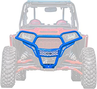 SuperATV Heavy Duty Front Brush Guard Bumper for Polaris RZR 900/4 900 / S 900 (2015+) - Voodoo/Velocity Blue