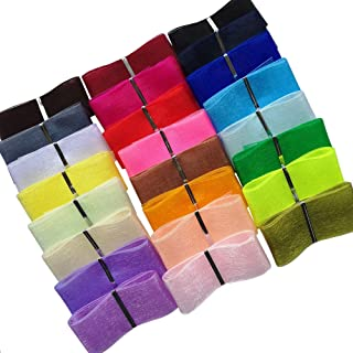 Chenkou Craft Solid Organza Ribbon Assorted 24 Yards Craft Bow Party Decoration Packing Ribbons (2