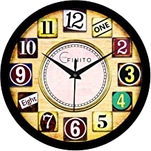 Efinito Wall Clock for Home/Living Room/Bedroom/Office/Kitchen/Kids Room - Silent Movement - 12 INCH