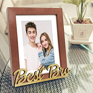 Art Street Synthetic Wood Best Bro Customize Table Photo Frame for Brother (Brown, 6X8 Inches)