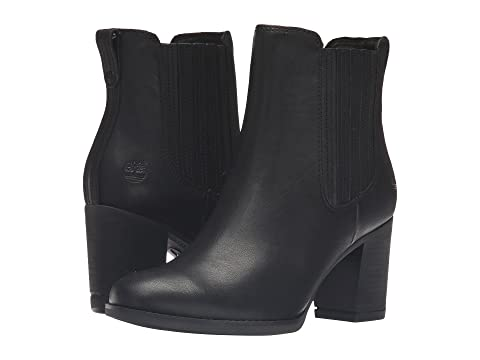 Timberland Atlantic Heights Covered Gore Chelsea Boot Black Full Grain Women