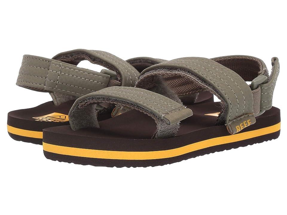 Reef Kids Ahi Convertible (Infant/Toddler/Little Kid/Big Kid) (Brown/Olive) Boys Shoes