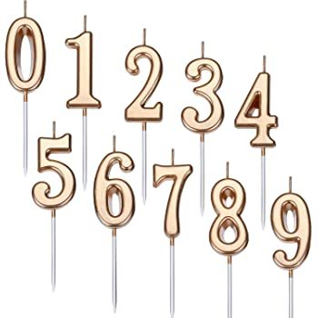 Gold Numeral Cake Topper Uk