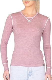 MERIWOOL Womens Base Layer 100% Merino Wool Heavyweight 400g Thermal Shirt for Women
