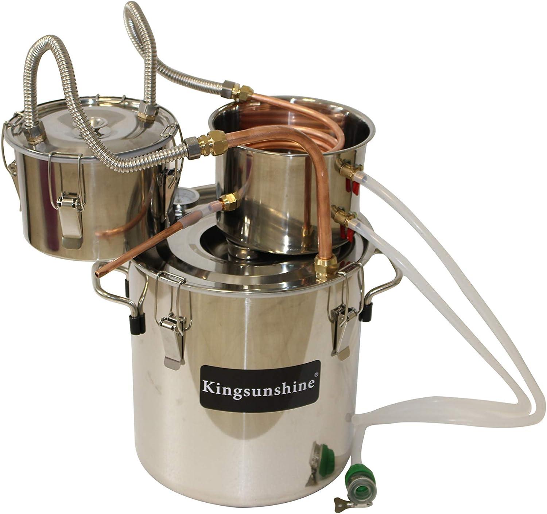 kingsunshine distillateur Acier Inoxydable temp/érature Cuivre Serpentine Eau Oil 30L