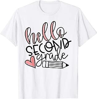 Hello 2nd Second Grade Shirt - Cute Teacher Back To School T-Shirt