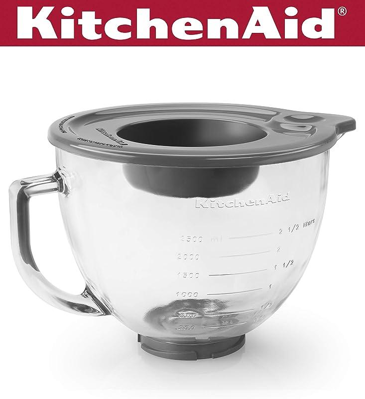 KitchenAid K5GB 5 Qt Tilt Head Glass Bowl With Measurement Markings Lid