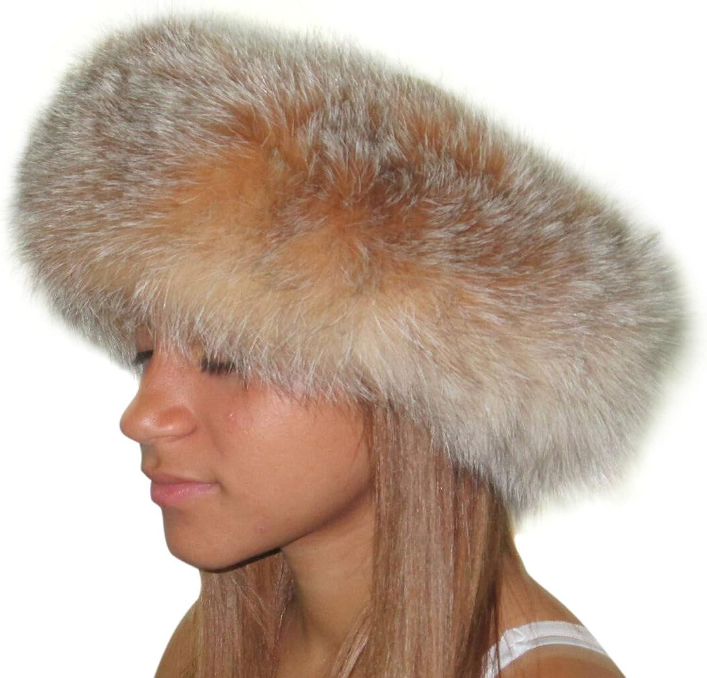 4 inches Regular Width Fox Headband/Neck Warmer
