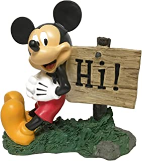 The Galway Company Disney Mickey Mouse Hi Sign, Outdoor Garden Statue, Classic Disney Collection, 8 Inches Tall, Hand-Painted, Official Disney Licensed Product