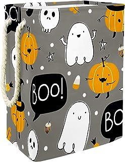 Vockgeng Halloween Citrouille fantôme Accueil Organisation Panier de Rangement imperméable Pliable de Jouets de Jouets de ...