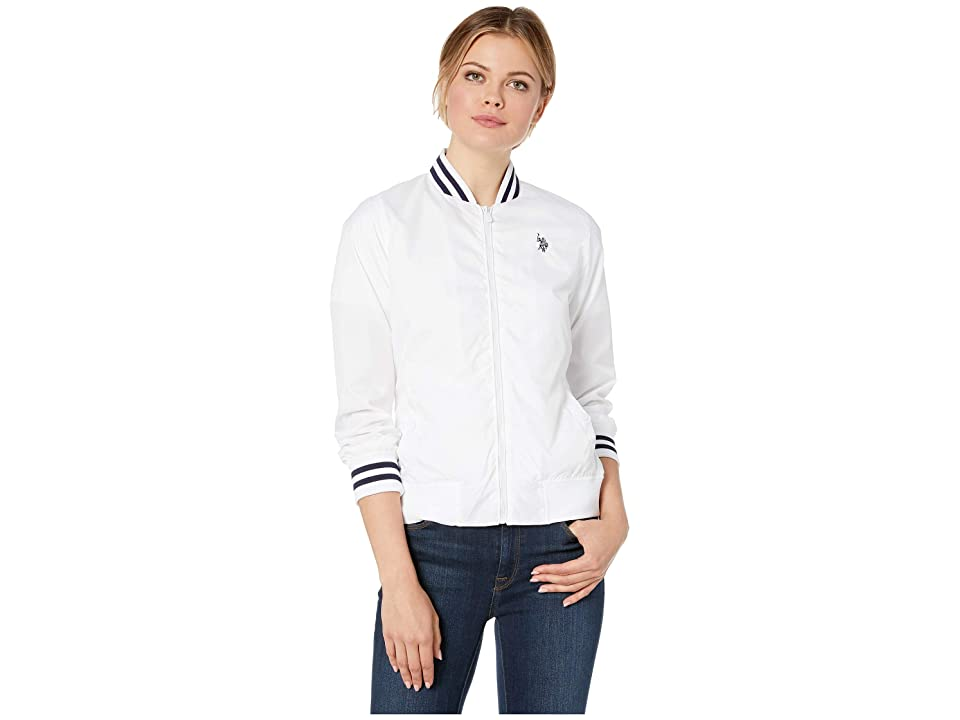 U.S. POLO ASSN. Baseball Jacket (White) Women