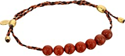 Precious Threads Red Jasper Gemstone Harvest Moon Braid