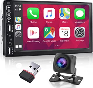 $119 » Nhopeew Double Din Car Stereo Compatible with Apple Carplay and Android Auto 7 Inch Capacitive Touch Screen Bluetooth Car ...