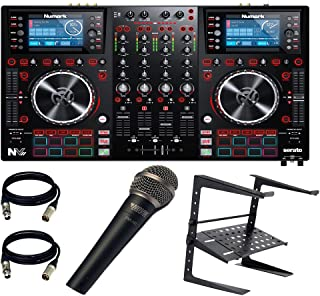 Numark NVII for Serato DJ with Intelligent Dual-Display Screens & Touch-Capacitive Knobs. With Free Laptop + Novik Mic + (2) XLR to XLR 20 FT ea.