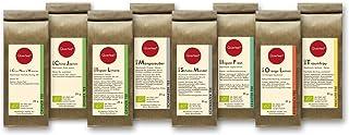 Tee Geschenkset Tee Probierset Biotee - Quertee Nr. 1 - 8 x 25g Bio Tee als Tee Geschenk - 200 g Biotee - Güntee | Schwarztee | Früchtetee | Kräutertee | Rotbusch Tee
