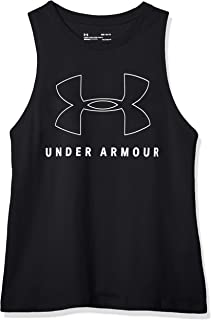 Under Armour Women's Sportstyle Graphic Muscle Tank Top, Black (Black/White), Medium