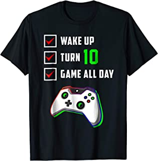 10th Birthday Gamer T Shirt Level 10 Unlocked Gamer Birthday