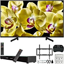 Sony XBR-49X800G 49-inch 4K Ultra HD LED Smart TV (2019) Bundle with Deco Gear 31-inch Sound Bar, Deco Mount Flat Wall Mount Kit, Deco Gear Wireless Keyboard, 6-Outlet Surge Adapter with Night Light