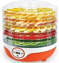 Máquina de conservación de alimentos para el hogar Secador de alimentos, multifuncional Secador de alimentos digital, Temperatura ajustable, 5 bandejas, 200 vatios, naranja