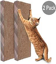 PrimePets Cat Scratcher Pad, Wide Corrugated Replacement Cat Scratching Cardboard, Cat Scratch Sofa Bed Lounge, Catnip Included,  2 Pack