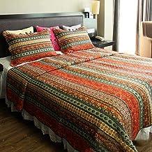 Podwójne łóżko pikowana kołdra Super miękka narzuta z siatki w stylu boho narzuta na łóżko szeroka boczna poszewka na podu...