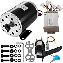 Mophorn Electric Permanent Magnet Motor 48V DC 1000 Watt with Controller & Pedal & Ignition Key 11Tooth 25Chain Sprocket and Mounting Bracket for Go Karts Scooters & E-Bike