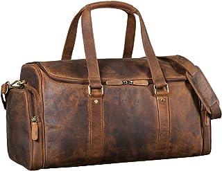 """STILORD """"Myles"""" Vintage Reisetasche Herren Leder Weekender zum Umhängen Overnight Duffle Bag Großes Reisegepäck XL echtes Rindsleder, Farbe:mittel - braun"""