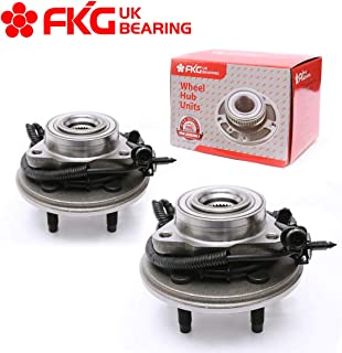 FKG 515050 Front Wheel Bearing Hub Assembly For 2002-2005 Ford Explorer (Excludes 2 Door Sport); 2003-2005 Lincoln Aviator (RWD, 4WD); 2002-2005 Mercury Mountaineer (4WD, RWD) 5 Lugs W/ABS, Set of 2