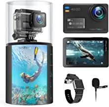 VanTop Moment 6S 4K/60FPS Action Camera with EIS, Dual Screen, External Microphone, 8X Slow Motion/Digital Zoom, 5G WiFi, ...