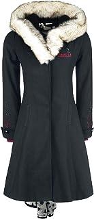 Disney Villains 101 Dalmatiner - Cruella De Vil Femme Manteau d'hiver noir, ,
