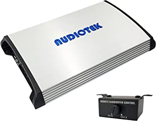 $149 » Audiotek AT8000M 1 Channel Monoblock Class D Car Amplifier - 8000 Watts, 1 Ohm Stable, LED Indicator, Bass Knob Included, ...