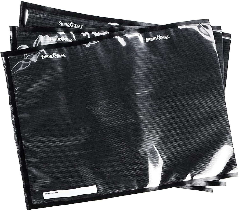 ShieldNSeal 15  x 20  Clear & Black Vacuum Seal Bags SNS 500