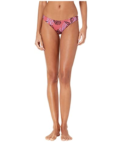 RVCA Tropic Punch Cheeky Bikini Bottoms (Bordeaux) Women