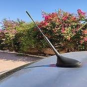 Antena de radio universal XtremeAuto®, negra, para coche