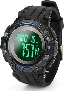 Achort, orologio digitale da uomo, sportivo, impermeabile 5 atm, con sveglia, cronometro, luce posteriore a LED, quadrante...
