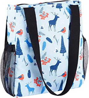 Enterlife Floral Large Tote Bag- Foldable Lightweight Waterproof Shoulder Bag Beach Gym Travel Shopping Daily Tote Bags