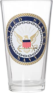 Officially Licensed United States Navy Emblem Pint Glass